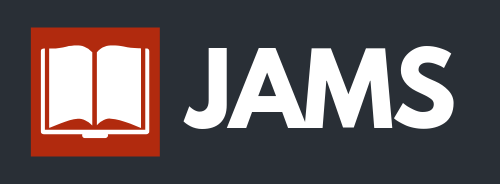 JAMS Logo. It reads: Open access, peer reviewed, no fees