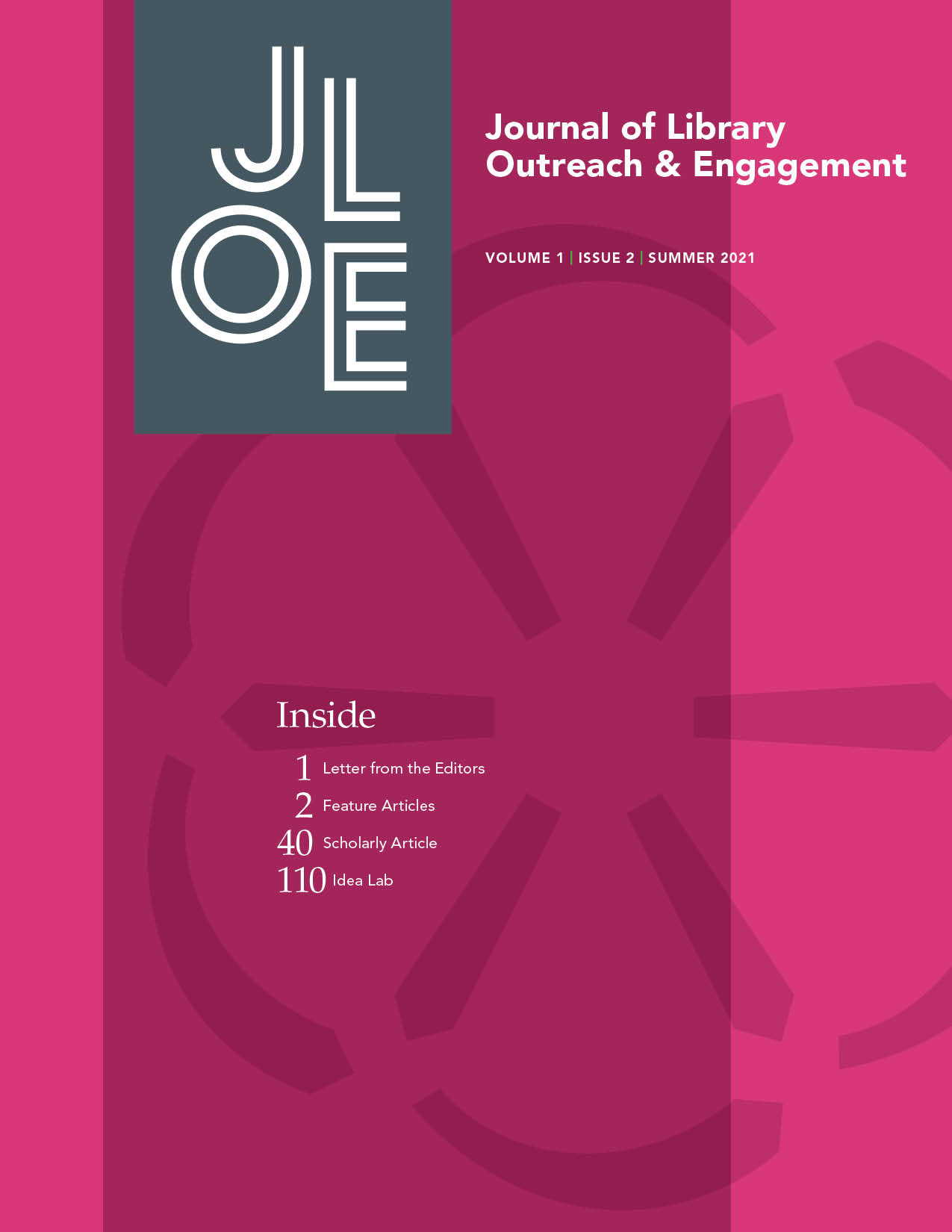 View Vol. 1 No. 2 (2021): Journal of Library Outreach and Engagement