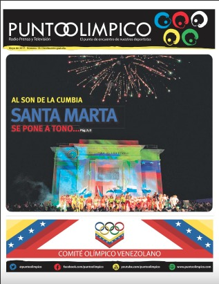 Cover of Punto Olímpico, the official periodical of the Comité Olímpico de Venezuela