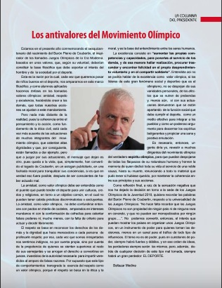 Cover of a publication made by the Comité Olímpico Colombiano