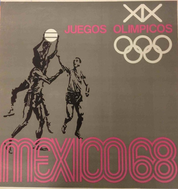 Promotional poster from the Mexico Olympics in 1968