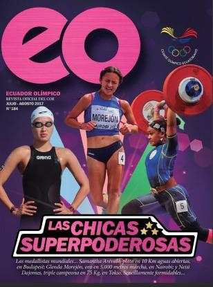 Cover of Ecuador Olímpico, the official periodical of the Comité Olímpico de Ecuador