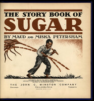 Below the title and author, a boy with dark skin and black curly hair chews a sugar cane stalk while carrying two canes.