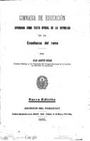 Cover of Gimnasia de educación. Aprobada como texto oficial de la republica en la enseñanza del ramo