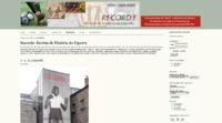 Screenshot of the website Recorde: Revista de História do Esporte