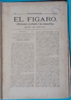 Cover of the periodical El Fígaro: Semanario de sports y de literatura