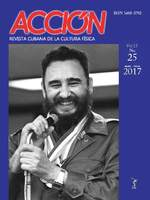 Cover of the magazine Acción. Revista Cubana de Cultura Física